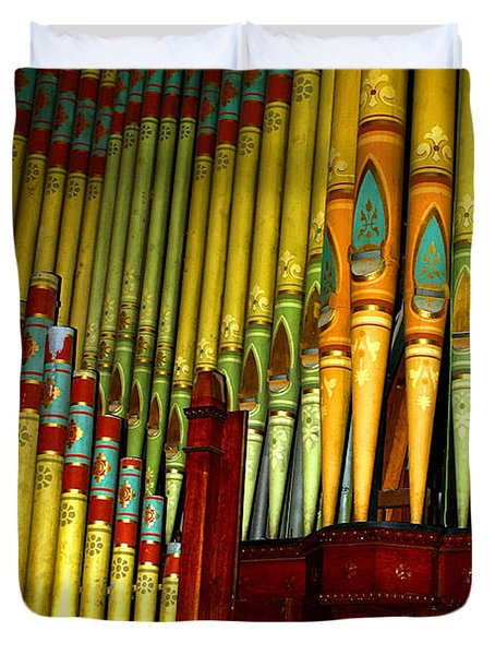 Old Church Organ Duvet Cover