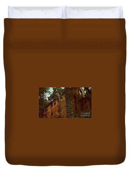 Old Church Ruins  Duvet Cover by Ruth  Housley