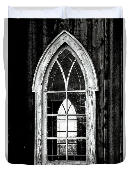 Duvet Cover featuring the photograph Old Church Window by Brad Allen Fine Art