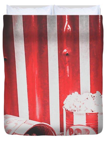 Old Cinema Pop Corn Duvet Cover