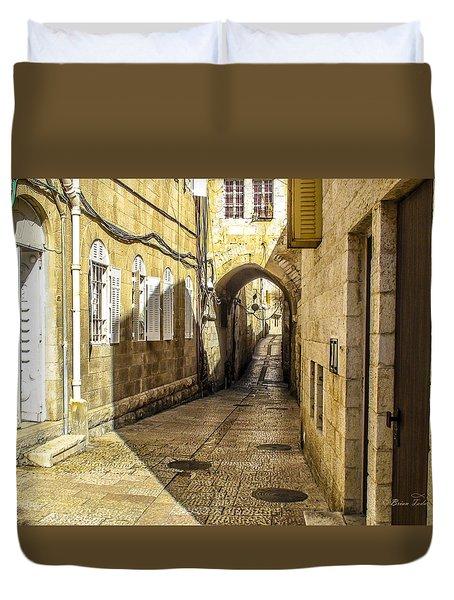 Shabbat Day Of Rest Jerusalem Israel Duvet Cover