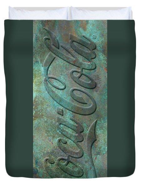 Old Coca Cola Sign Duvet Cover