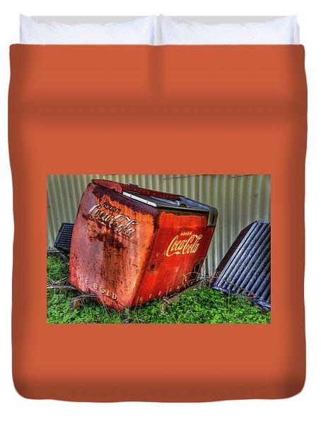 Old Coke Box Duvet Cover