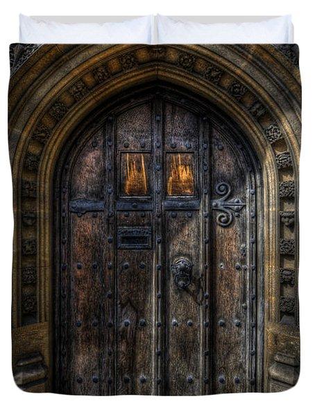 Old College Door - Oxford Duvet Cover