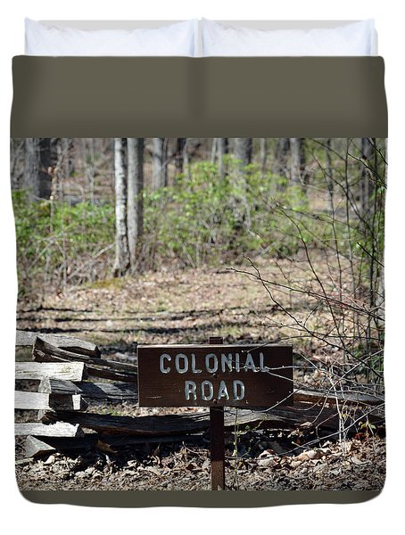 Old Colonial Road Duvet Cover by Bruce Gourley