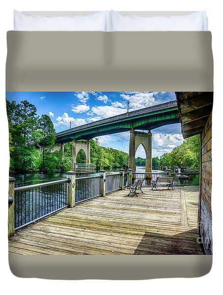 Old Conway Bridge Duvet Cover