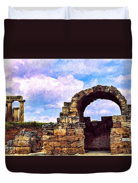 Old Corinth Shop Duvet Cover