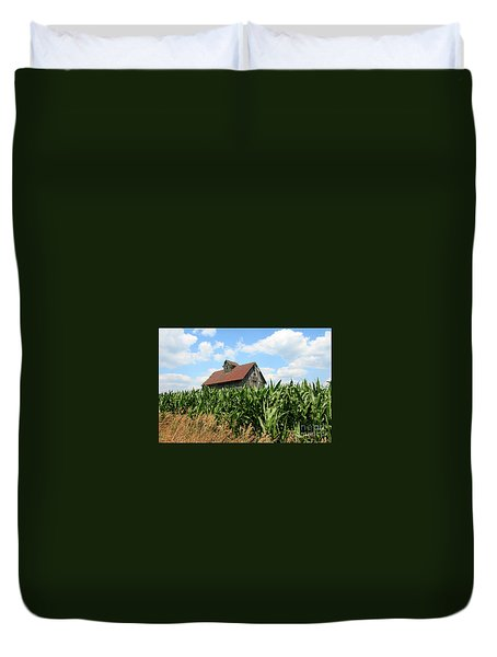 Old Corn Crib Duvet Cover