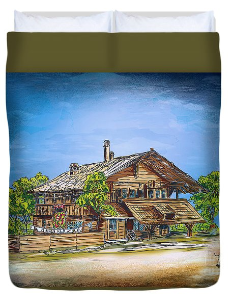 Old Cottage Duvet Cover