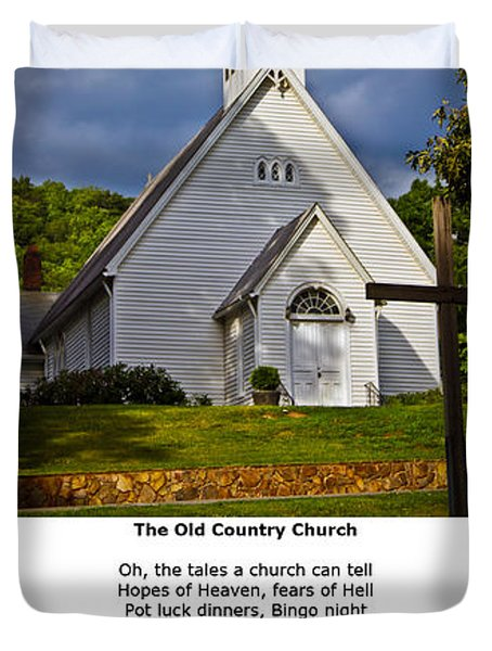 Old Country Church Duvet Cover by John Haldane