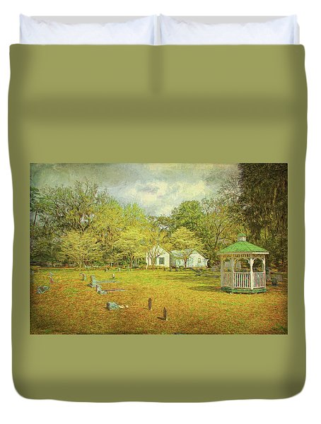 Duvet Cover featuring the photograph Old Country Church by Lewis Mann