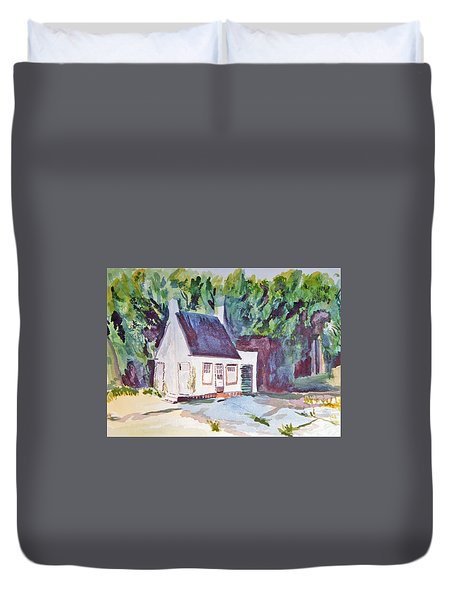 Former Old Country Gas Station Duvet Cover