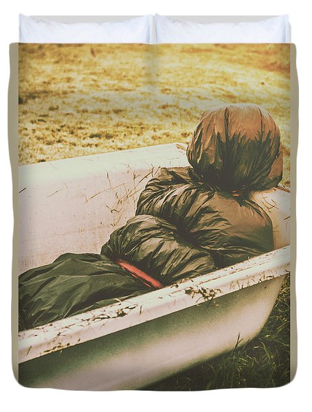 Old Country Horrors Duvet Cover