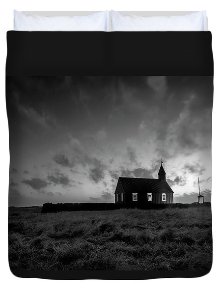 Old Countryside Church In Iceland Duvet Cover by Joe Belanger