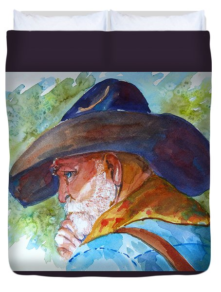 Old Cowboy Duvet Cover by P Maure Bausch