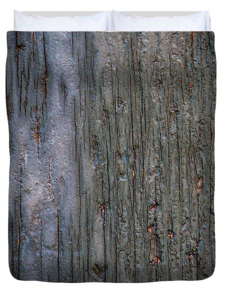 Old Cracked Wood Background Duvet Cover