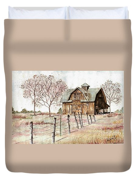 Old Crawford Colorado Barn Duvet Cover