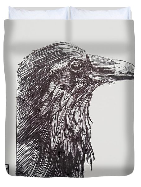 Old Crow Duvet Cover