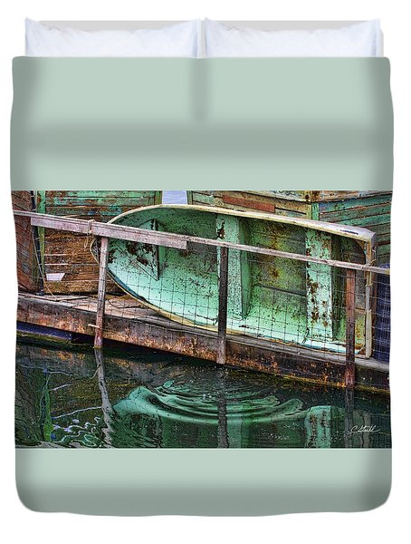 Old Crusty Dinghy Duvet Cover