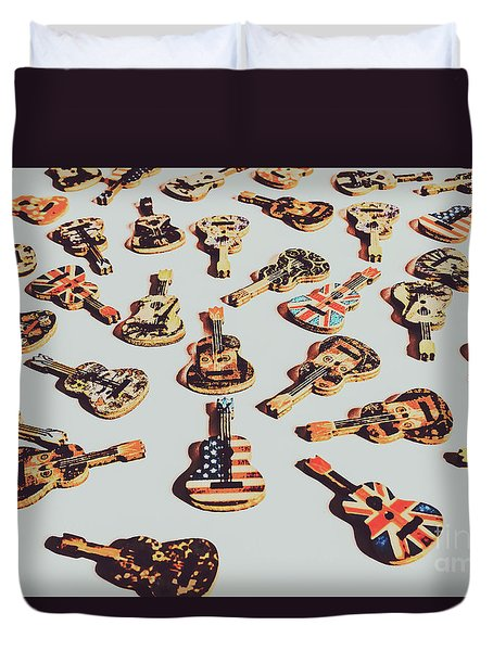 Old Days Of Rock N Roll Duvet Cover
