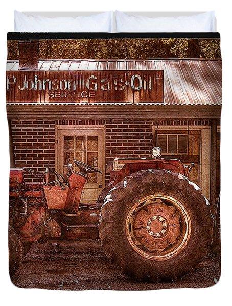 Old Days Vintage Duvet Cover by Debra and Dave Vanderlaan