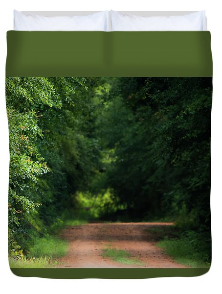 Duvet Cover featuring the photograph Old Dirt Road by Shelby Young
