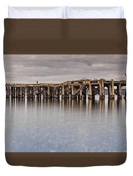 Old Dock Duvet Cover by Tony Locke