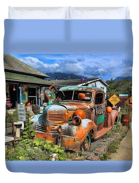 Old Dodge Duvet Cover