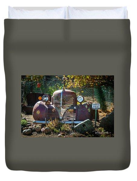 Old Dodge Rust Bucket Duvet Cover