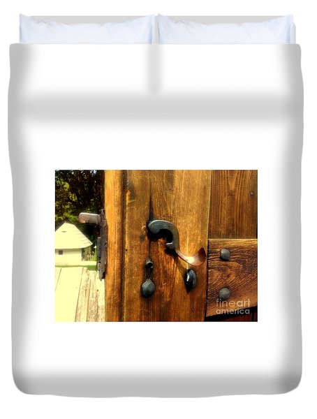 Old Door Handle Duvet Cover