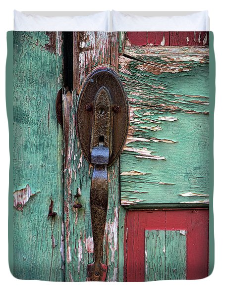 Old Door Knob 2 Duvet Cover by Joanne Coyle