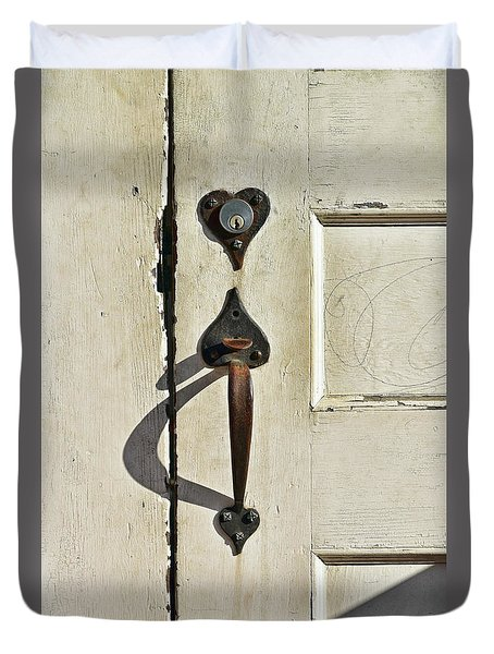 Old Door Knob 3 Duvet Cover by Joanne Coyle