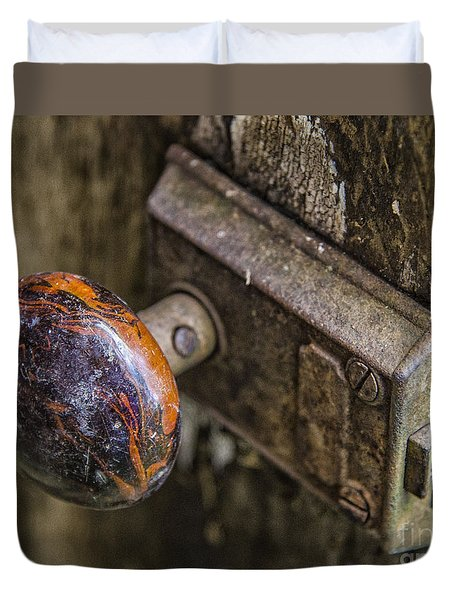 Old Door Knob Duvet Cover by JRP Photography