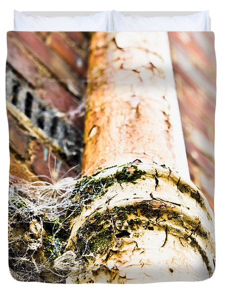 Old Drain Pipe Duvet Cover