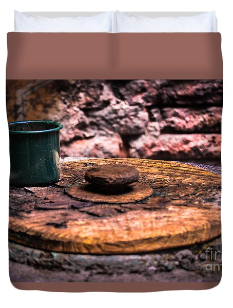 Old Drinking Cup Duvet Cover