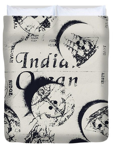 Old East India Trading Routes Duvet Cover