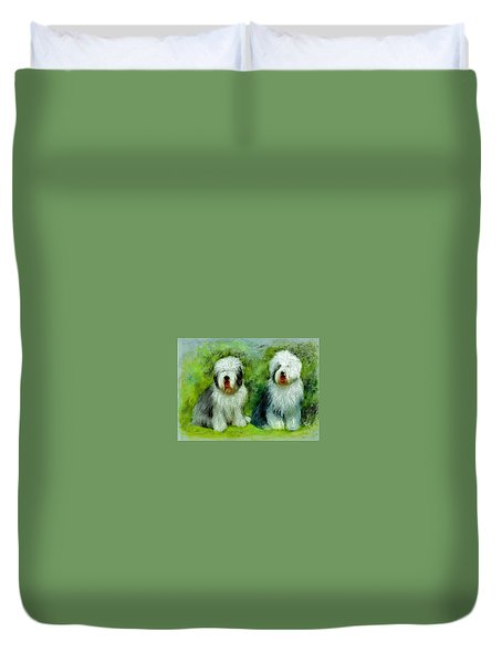 Old English Sheepdog Duvet Cover