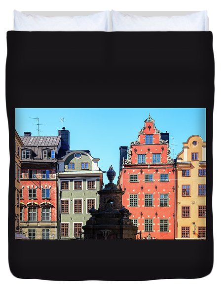 Old European Architecture Duvet Cover