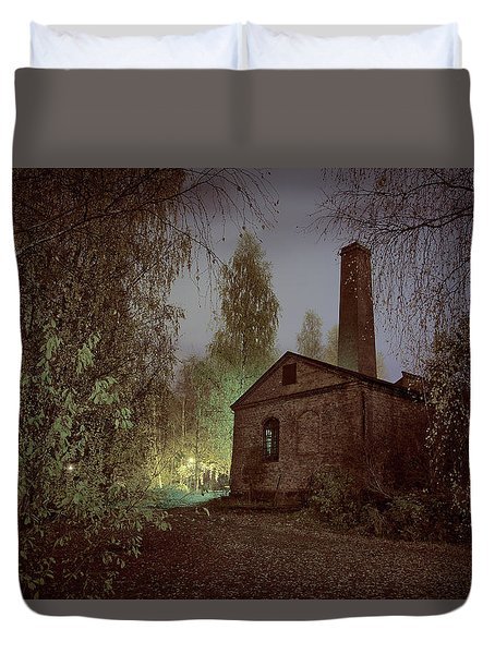Old Factory Ruins Duvet Cover