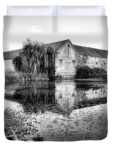 Old Farm And Pond In France Duvet Cover