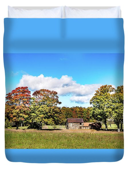 Duvet Cover featuring the photograph Old Farm House by Onyonet  Photo Studios