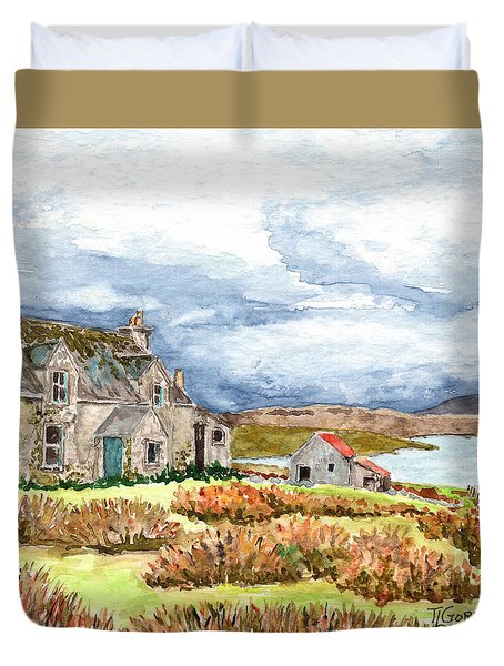 Old Farm Isle Of Lewis Scotland Duvet Cover