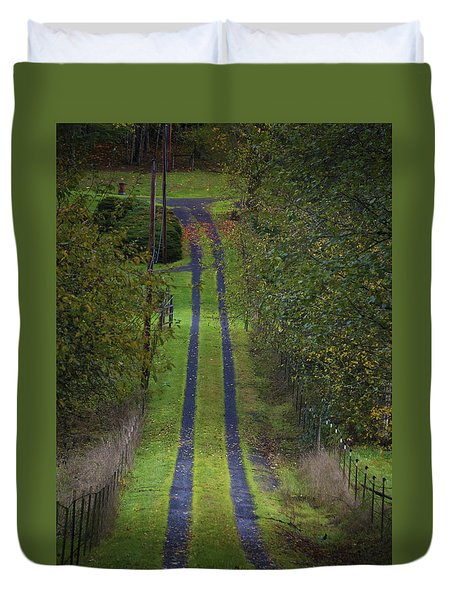 Old Farm Road Duvet Cover