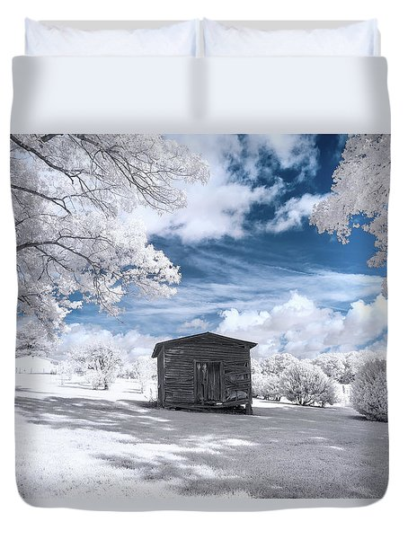 Old Farm Shed IIi Duvet Cover