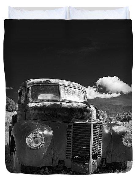 Old Farm Truck Infrared Duvet Cover