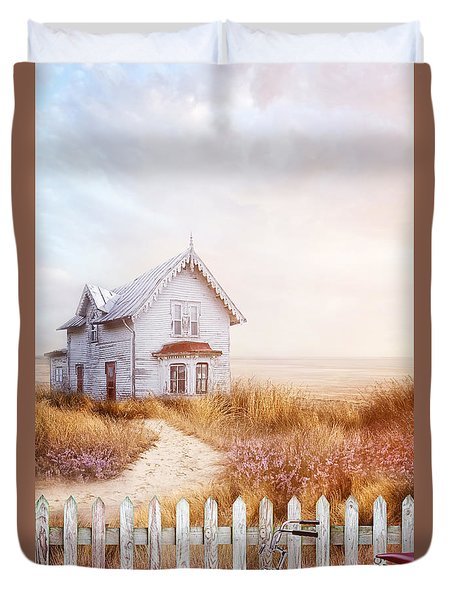 Old Farmhouse Near The Ocean Duvet Cover by Sandra Cunningham