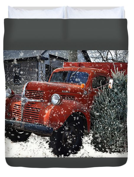 Old Fashion Country Christmas  Duvet Cover