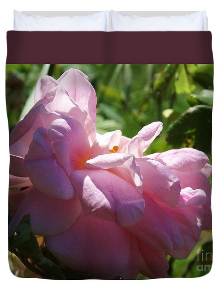 Duvet Cover featuring the photograph Old Fashion Rose Two by J L Zarek