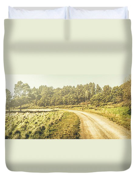 Old-fashioned Country Lane Duvet Cover