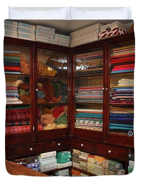 Old-fashioned Fabric Shop Duvet Cover by Gaspar Avila